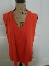 Liz Claiborne Woman's Orange Sleeveless Knit Top, Size XL