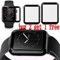 3D Full Cover Curved Tempered Glass Screen Protector For Apple Watch 1-3 38/42mm