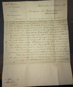 VALPARAISO. LETTRE CONCERNANT UN ENVOI À UN CAPITAINE BASÉ À AUCH (GERS) ,1875.