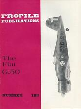 PROFILE PUBLICATIONS #188 THE FIAT G50 WWII  MILITARY AIRPLANE PLANE