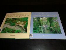 "Lot Os (2) Books For Your Garden - ""Seats & Benches"" And ""Arbors & Trellises"""