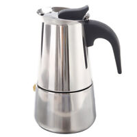 100ML Stainless Steel Coffee Maker Percolator Stove Top Pot X3O7