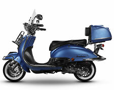 Retro Roller Mofa 25 KmH / Motorroller 45 KmH - 49 ccm Moped blau EASYCRUISER