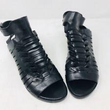Alexander Wang 38 Black Leather NIka  Gladiator Shoes Sandals