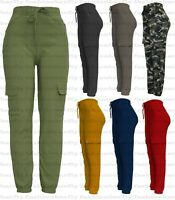 New Ladies Cargo Combat Stretch Casual Trousers Womens Slim Fit Sport Jogger