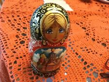 Beautiful St Peterburg Russian  Firebird M3 Nesting Dolls - 3