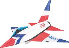 HQ zweileiner principiantes cometa jet kite 3d 115x126cm vuelo correa en papel