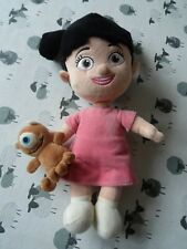 """Disney Store 13"""" Monsters Inc Boo + Little Mikey Teddy Soft Toy Plush Stamped"""