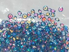 30pc Floating tiny little Crystals rhinestone gems for bottle 3mm AB Purple