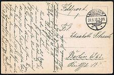 1037 GERMANY WWI FIELDPOST FELDPOST POSTCARD 1918 BAD NEUENAHR - BERLIN