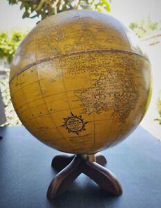 """1930s Cram's 10.5"""" Yellow World Globe"""