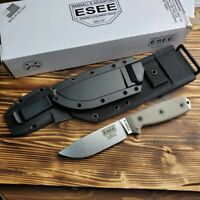 ESEE Model 4 Micarta Handle 440C Stainless Fixed Blade Camp Knife 4P-MB-SS