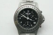 SWISS PROFESSIONAL Air force Mens Chrono Quartz 22 JEWELS Watch 330 FEET