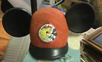 Vintage Walt Disney Mickey Mouse Clubhouse Star Red Hat & Ears By Benay Albee