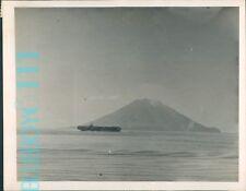WW2 Navy Aircraft Carrier HMS Emperor Stromboli Sicily 1944 8.5 x 6.5 in