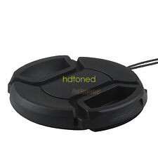 58mm center pinch snap on Front Lens Cap Cover for Canon Nikon Sony with string