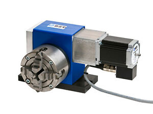 Rundtisch 4. Achse Vierte Achse Drehachse für 100 mm Backenfutter CNC Fräse BZT