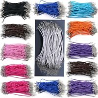 50pcs Wholesale Bulk Lots Braided Rope Charm Leather Bracelet Many Colors Pick