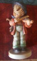 "Goebel M. J. HUMMEL ""Little Fiddler"" #4 Boy w/ Violin Porcelain Figurine TMK 3"