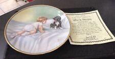 Hamilton Collection Bessie Pease Guttman Collector Plate Who's Sleepy Boy & Dog