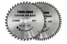 Circular Saw Blades 250mm 40 teeth & 60 medium/fine cut TCT Saw Blades 30mm Bore