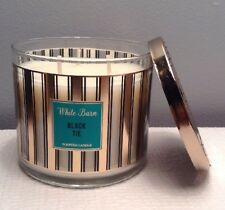 BATH & BODY WORKS WHITE BARN BLACK TIE 3-WICK SCENTED CANDLE 14.5 OZ. NEW