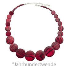 Coeur de Lion Damen Halskette Kunststoff Rot 49-57 cm necklace 🍀🍀🍀