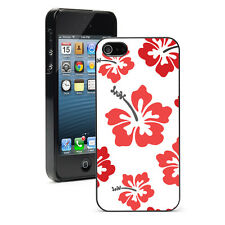 For Apple iPhone X SE 5s 6 6s 7 8 Plus Hard Case Cover 976 Red Hibiscus Flowers