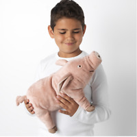IKEA KNORRIG Soft toy pig plush pink and cuddly, perfect for kids 37cm UK