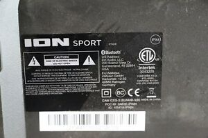 ION Audio - Tailgater Sport Bluetooth Wireless Portable Speaker Black IPX4