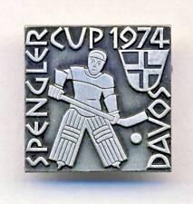 1974 SPENGLER CUP Ice Hockey TOURNAMENT pin BADGE Davos