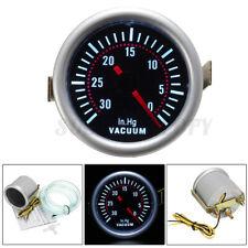 12V 2'' 52mm Universal Car LED Digital Vacuum Gauge Press Meter Smoke Len USA