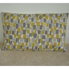"20""x12"" Oblong Bolster Cushion Cover Sundowner Saffron Mustard Yellow Ochre Grey"