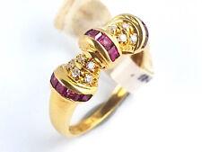 Ring Damen Statement Cocktail Rubin Diamant – 750 Gold Gelbgold - #33**