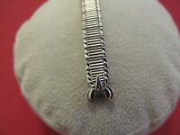 "New Vintage SPEIDEL 10K White Gold Filled Ladies 5 1/4"" Stretch Watch Band..WOW"