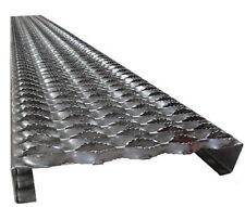 """9-1/2"""" wide x 1-1/2 x 12""""  x 14GA  Galvanized Steel Safety Grating Grip Strut"""