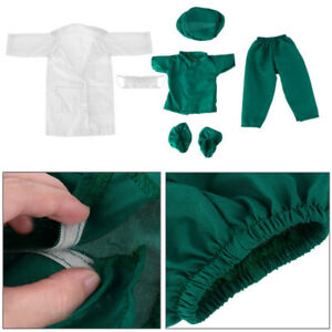 Doll Doctor Nurse Clothes Outfit Set Fits for 18 Inches Our Generation Doll C