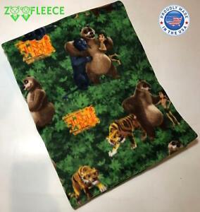 ZooFleece The Jungle Book Disney Animals Bear Panther Tiger Mowgli 50X60 Blanket