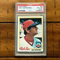 1978 Topps #40 - Carl Yastrzemski - Boston Red Sox - PSA 8 (OC)