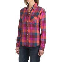 Dickies - Women's S - NWT - Pink Oxblood/Papaya Buffalo Plaid Flannel Shirt