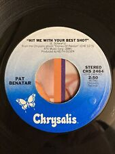 Pat Benatar - Hit Me With Your Best Shot - Original 45 - Great Shape Tested �