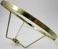 "Vintage Brass Plated 7"" Fitter Under Socket Shade Holder Ring 3/8"" Center Hole"