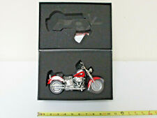 Harley-Davidson Scarlet Red 2010 FLSTF Fat Boy By DCP 1/12th Scale