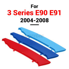 3 Color Front Grille Bar Strip Cover Decal Clip For BMW 3 Series E90 E91 2004-08