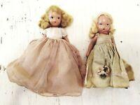 "2 Vintage Nancy Ann Storybook Dolls 5.5"" and 6.5"""