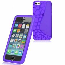 Custodia WALLET Cover VIOLA FRONTE TRASPARENTE per Apple iPhone 5C Gel Gomma