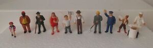 Plasticville Or Similar O S Soft Figures With Pins On Feet #1