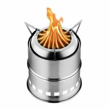 New listing Stainless Steel Camping Stove Wood Burning Gasifier Stove Cooker Outdoor Oven Ca