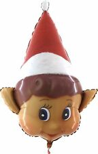 34 Inch Naughty Elf Christmas Shaped Foil Balloon - Christmas Decorations (CX8)