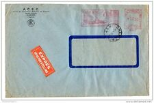 Belgique 1952 express commercial couverture avec fenêtre radio acec compteur payé X2332